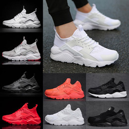 huaraches sneakers women Promo Codes - 2018 Air Huarache 4 and 1 Running Shoes Ultra Classical Triple White Black Red Men Womens Huaraches sports Sneakers Eur 36-45