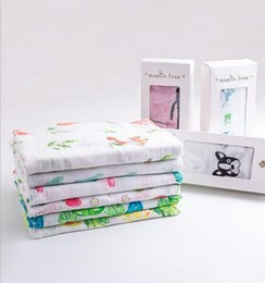 Wholesale Bamboo Baby Blanket - 120*120cm Baby Muslin Swaddle Blanket Newborns Gift Baby Blanket Muslin Swaddle Wraps Bamboo fiber Baby Blankets KKA4012