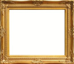 Wholesale Oil Paintings Woods - Fashion wood photo frame 16inch photo frame gold foil silver foil oil painting mirror