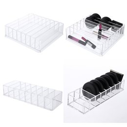 Wholesale drawer organizer acrylic box - 8 Grids Acrylic Blush Powder Essential Storage Box Oil Lipstick Makeup CosmeticHome Desktop Drawer Organizer Boxes For Women