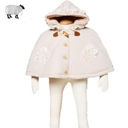 Jaqueta de algodão orgânico meninas on-line-Bebê recém-nascido Da Menina de Inverno de Algodão Orgânico Neve Morno Casaco Com Capuz Casaco Roupas Infantis Da Criança Do Bebê Meninas Poncho Casacos Outerwear