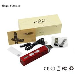Hebe Titan 2 titan 1 Kits de iniciación Vaporizador a base de hierbas Hebe Tit2200mah ecig con pantalla LCD intercambiable Tempreture cigarrillo electrónico vape pluma desde fabricantes