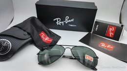 Wholesale sun glasses 58mm - New Aviators Sunglasses RAY 58mm Pilot Men Women Fashion UV400 Band Vintage Mirror 3025 Glass Sun Glasses BANS Cool BEN with cases