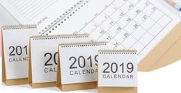 Brezza blu online-nuovo commercio all'ingrosso di 4 pezzi 2019 creativo piccolo e rinfrescante ufficio senza stampa calendario calendario breeze sezione trasversale e design verticale