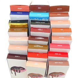 Wholesale pencil size - 42 colors LIP KIT liner cosmetics Lipliner pencil Velvetine Liquid Matte Lipstick Red Velvet Makeup Lip Gloss Make Up