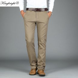 97fb9740e38 King Bright Brand Size 29-44 Wrinkle Free Wedding Black Mens Formal Pants  Office Workwear Casual Men Suit pants Slim Fashion