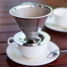 2019 strumento di imballaggio manuale Spedizione gratuita in acciaio inox riutilizzabili cestini filtro da caffè filtro in rete pour over caffè dripper stand holder utensili da tè caffè