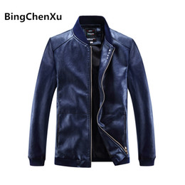 Wholesale Leather Hooded Biker Jacket Men - Wholesale- Motorcycle Leather Jackets Men PU Jackets slim fit Leather Coats Clothing Male Casual Coats Fashion Clothing Biker Mens Coat 565