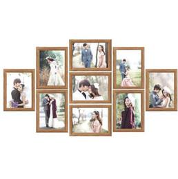 9 Pçs / lote Photo Frame Set Picture Frame Família Colagem Photo Frames Wall Hanging Foto Titular Imagem Casa Decoração Da Parede de