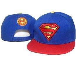 Batman Snapback chapeaux de bande dessinée rouge bleu super héros série superman batman spiderman casquette de baseball snapback ? partir de fabricateur