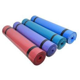 Wholesale Pilates Mat Exercises - Premium 6MM Thick EVA Yoga Exercise Mat Fitness Aerobic Gym Pilates Camping Mat Non Slip with Carry Strap
