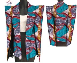 2019 afrikanische wachsdruckstile 2018 New African Print Wachs Mantel Dashiki Blazer Plus Größe 6xl Afrika Stil Kleidung für Frauen Crop Top Casual Mantel WY3199 rabatt afrikanische wachsdruckstile