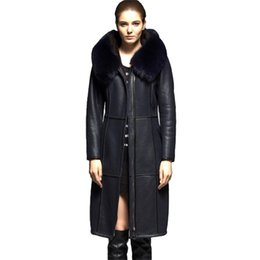 Group Winter Wholesale Fur Hooded Jackets Women Leather IEHD29