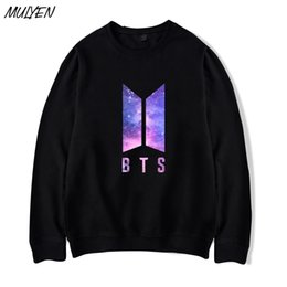 Wholesale Bts Album - MULYEN Autumn Hoodies Women men Love Yourself Album Hoodie Bangtan Boys Hip Hop Pullover Sweatshirt BTS Kpop Clothes Moletom