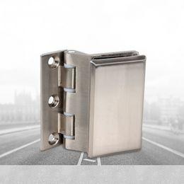 Stainless steel door hinge bathroom clamp glass door hinge office cabinet Aluminum alloy partition household hardware clamp