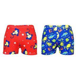 4070ae9855 New 7-9Y Swimming Trunks Swimsuit Bathing Suit Elastic Swim Shorts for Boys  Cartoon Animal Shark Monkey Kids Blue Red Beach Pant