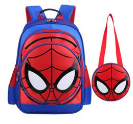 Cartone animato Zaino per bambini Spider Men Boy's School zaino scuola Borse per bambini Bambini da