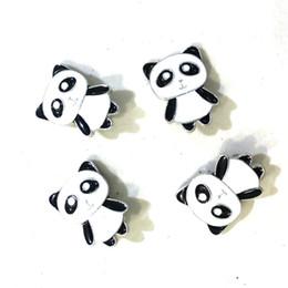 2019 panda charme armbänder Niedlichen chinesischen Panda Noosa 18mm Druckknopf Brocken DIY Ingwer Druckknopf Charms Armband Halskette Schmuck rabatt panda charme armbänder