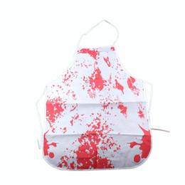 Nouveautés horribles en Ligne-LUOEM Horror Bloody Apron Nouveauté Fantaisie Robe Boucher Chef Cuisine Unisexe Cook Adulte pour Halloween Costume Party