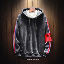 Wholesale Hoodie Promotion - 2018 Promotion Solid Loose Thick None Full New Hoodies Men Brand Designer Mens Sweatshirt With Luxury Harajuku Plus Size Casual