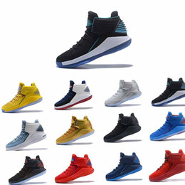 Wholesale Pf Lighting - 2018 Hot 32 XXXII CNY Chinese New Year Men Basketball Shoes J32 PF MVP Black Cement Red Russ Russell Westbrook Gold Mens Sneakers