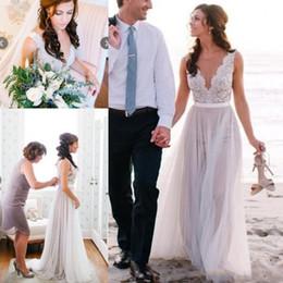 Barato Plus Size Praia Vestidos de Casamento Chique Boho Verão A Linha Sem Mangas Vestidos de Noiva Ilusão Corpete Rendas Applique Moderno Vestido de Noiva de Fornecedores de vestido de casamento da princesa grega