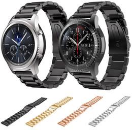 Argentina Banda de reloj de acero inoxidable de 22 MM para Samsung gear S3 Correa metálica clásica para Gear S3 Smart Watch 3 link Correa de reloj Suministro