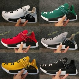Wholesale canvas shoes size 12 women - TOP quality Pharrell Williams X NMD Human Race Running Shoes NMD Runner men and women Trainers sports Sneakers Boost Size US 5-12