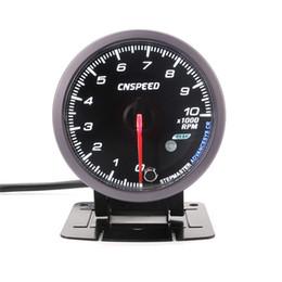Tachimetro automatico da 60 mm 0-10000 Giri al minuto Fronte nero con indicatore di luce bianco Ambra RPM Misuratore auto da