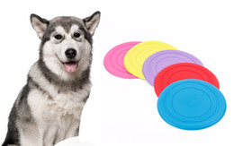 Wholesale Throwing Flying Toys - Outdoor Pets Dog Soft Flying Flexible Disc Silicone Training Toy Tooth Resistant Exercising Throwing Flying Fetch Toys