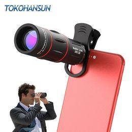 2019 монокуляр hd TOKOHANSUN универсальный 18x25 монокуляр зум HD marvel оптический сотовый телефон объектив 18x телеобъектив с Trfor смартфон скидка монокуляр hd