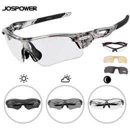 b9e13134a2 2019 lentes fotocromáticas polarizadas JOSPOWER Photochromic Ciclismo Bike  Glasses Eyewear Deportes al aire libre MTB UV400