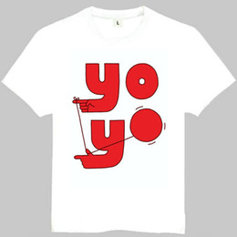 Wholesale Flashing Yoyo - Yoyo ball t shirt Free time play short sleeve gown Sport tees Leisure printing clothing Quality cotton Tshirt
