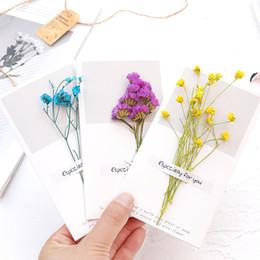 Nouvelle arrivée 14 Styles Babysbreath Oublie-moi pas de fleurs sèches Décoration Grift Cards Invitation de mariage Cartes de voeux ? partir de fabricateur