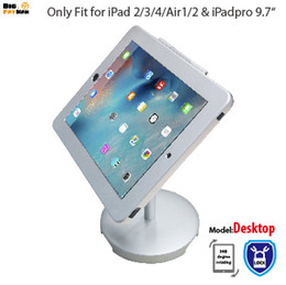 Wholesale security stand - tablet Holder Mount holder for iPad 2 3 4 tablet pc stand metal case stand desktop lockable security desktop