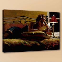 2019 marcos digitales rosa Alta calidad Fabian Perez Girl Giorgina en la habitación amarilla pintada a mano HD pintura al óleo, decoración para el hogar arte de la pared en la lona p88
