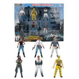 Wholesale Action Figure Weapons - 2018 PUBG Game Playerunknown's Battlegrounds Action Figure Toys 9cm Characters Dolls with Weapons Accessories For Kid Party Gift