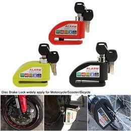 bicicletta di diametro Sconti Universal IZTOSS 7.0mm Pin Diameter Antifurto Allarme Antifurto Blocco Freno a Disco per Moto Bicicletta Electromobile Pinza Freno