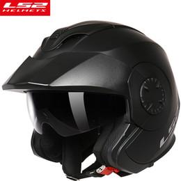 Wholesale ls2 helmet open face - New LS2 Verso OF570 vintage motorcycle helmet open face locomotive retro scooter motorbike helmet men vesap ECE moto helmets