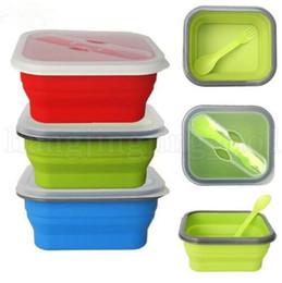 Дешевые королевские синие пkers for windows онлайн-Силиконовый складной ланч-бокс Портативный складной контейнер для хранения продуктов питания Открытый пикник Ланч-бокс Бенто Box Посуда Посуда Гаджеты OOA5253