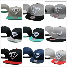 Wholesale cheap diamond snapbacks - New Cheap Hot Diamond Supply Co Ball Caps Cool Baseball Cap Hip Hop Snapback Adjustable Snapbacks Men Women Summer Sun Hat