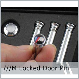 2019 verrouillage de porte bmw 4 PCS / Set Goupille De Porte De Voiture De Voiture Emblème En Acier Inoxydable M Tech Modifié Pour /// M BMW E36 E46 E63 E64 E81 E82 E46 E52 E53 E60 E90 verrouillage de porte bmw pas cher