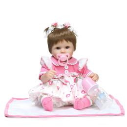 """Poupée en vinyle 18 en Ligne-Reborn bébé jouet poupées 18 """"41cm vinyle souple en silicone reborn bébé fille poupées bebes reborn bonecas jouer maison jouets enfant plamates"""