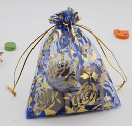 design da bolsa de casamento Desconto 9x12 cm Embalagem de Jóias Sacos de Organza Sacos de Presente de Casamento projeto da flor rosa Organza Pouch Wedding Party Favor Saco de Presente