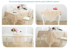 Wholesale Cotton Square Crochet Tablecloth - promotion top selling tablecloth size wedding tablecloths square tablecloths with high quality and good price send to every concor