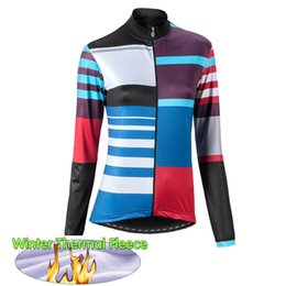 2019 giacche da ciclismo invernale 2019 Maglia termica da donna in pile termica da ciclismo Giacca da ciclismo calda da bici Wear Abbigliamento da bici MTB Abbigliamento da bici a manica lunga sconti giacche da ciclismo invernale