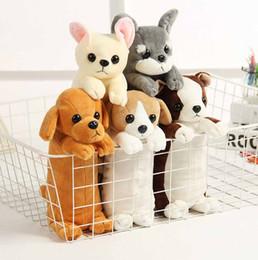 Borse del giocattolo online-Simpatico cartone animato astuccio per cani peluche Animale cane cosmetico borsa portamonete Scuola Cancelleria Pencilcase kawaii giocattolo per bambini