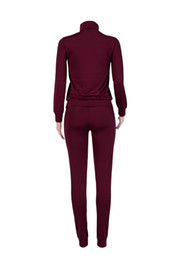 Wholesale Winter Clothings - Sweatshirt and Pants 2 Piece Set Winter Women Fashion Letter PINK Print Sporting Suits for Ladies Leisure Tracksuit Clothings Set DHL Free