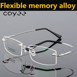 0823014fe0 Coyee aleación de memoria flexible sin montura gafas perforadas mujeres  hombres óptica Buena calidad marcos de anteojos gafas de gafas RX-capaz
