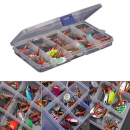 spinner bait bass fishing lure Coupons - New Steel Metal Lot 30pcs Colorful Trout Spoon Metal Fishing Lures Spinner Baits Bass Tackle Baits & Lures